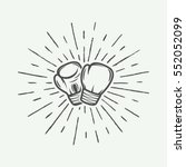 boxing gloves in vintage style. ... | Shutterstock .eps vector #552052099