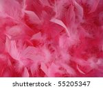 Image Of Pink Feathers Used As...