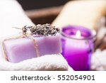 lavender and towel  | Shutterstock . vector #552054901