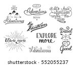 set of adventure and travel... | Shutterstock .eps vector #552055237