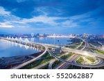 shanghai interchange overpass... | Shutterstock . vector #552062887