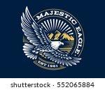 Stock vector eagle logo vector illustration emblem design on dark background 552065884