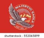 eagle logo   vector... | Shutterstock .eps vector #552065899