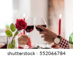 couple having a romantic dinner ... | Shutterstock . vector #552066784