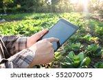 farmer using digital tablet...   Shutterstock . vector #552070075