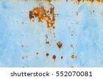 rust on blue steel backgrounds | Shutterstock . vector #552070081