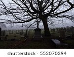 Old Cemetery Headstones On A...