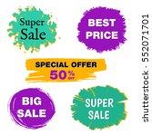 retro vector discount sale on... | Shutterstock .eps vector #552071701