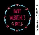 hand drawn frames happy... | Shutterstock .eps vector #552073111