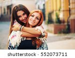 lifestyle portrait of young...   Shutterstock . vector #552073711