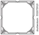 ornate black square frame ... | Shutterstock .eps vector #552075919