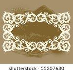 vector vintage template frame... | Shutterstock .eps vector #55207630