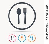 food icons. fork and spoon... | Shutterstock .eps vector #552081505