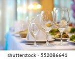 serving table prepared for... | Shutterstock . vector #552086641
