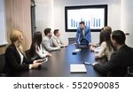 business meeting and... | Shutterstock . vector #552090085