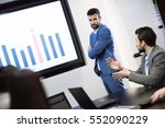 business people analyzing data... | Shutterstock . vector #552090229