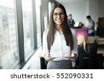 portrait of happy smiling... | Shutterstock . vector #552090331