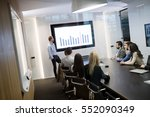 business meeting and... | Shutterstock . vector #552090349