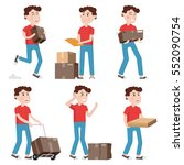 courier characters delivery man ... | Shutterstock .eps vector #552090754