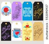 set labels for decoration of...   Shutterstock .eps vector #552090937