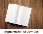 book mock up on wood background  | Shutterstock . vector #552094255