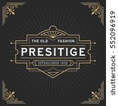 Vintage line frame design for labels, banner, logo, emblem, apparel, t- shirts, sticker and other design object. Vector illustration | Shutterstock vector #552096919