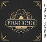 vintage line frame design for... | Shutterstock .eps vector #552096979