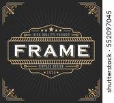 vintage line frame design for... | Shutterstock .eps vector #552097045