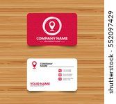 business card template with... | Shutterstock .eps vector #552097429