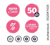 super sale and black friday... | Shutterstock .eps vector #552097435
