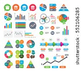 business charts. growth graph.... | Shutterstock .eps vector #552106285