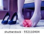 medical concept. foot pain.... | Shutterstock . vector #552110404