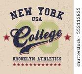 vintage sport wear new york t... | Shutterstock .eps vector #552112825