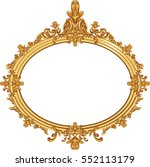 round photo frame  metal gold ... | Shutterstock .eps vector #552113179