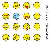 emoji icon set  star shaped... | Shutterstock .eps vector #552113764