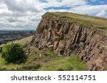 shear rock cliff at arthur's... | Shutterstock . vector #552114751