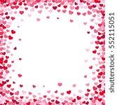 lovely heart frame with... | Shutterstock .eps vector #552115051