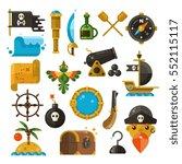 sea adventure  pirate  weapon ... | Shutterstock .eps vector #552115117