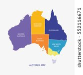 australia map illustration... | Shutterstock .eps vector #552116671