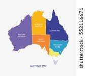 australia map illustration... | Shutterstock .eps vector #552116671