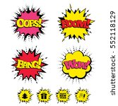 comic boom  wow  oops sound... | Shutterstock .eps vector #552118129