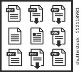 pdf data file download icon... | Shutterstock .eps vector #552118981