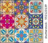 vector patchwork seamless wall...   Shutterstock .eps vector #552123139