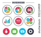 business pie chart. growth... | Shutterstock .eps vector #552124909