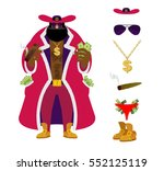 pimp set. pocket full of cash.... | Shutterstock .eps vector #552125119