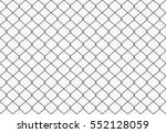 seamless metal wire mesh. vector | Shutterstock .eps vector #552128059