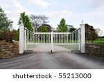 Gates And Driveway Of A Countr...
