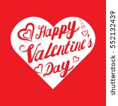 happy valentines day letter...   Shutterstock .eps vector #552132439