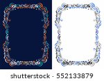 floral frame for text | Shutterstock .eps vector #552133879