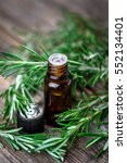 rosemary essential oil and... | Shutterstock . vector #552134401